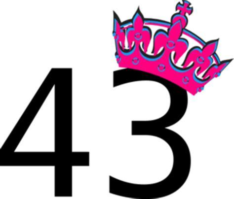 pink tilted tiara and number 43 clip art at clker.com