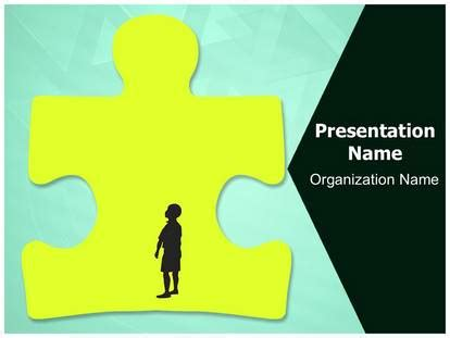 Autism Research Powerpoint Template Background Subscriptiontemplates Com Autism Powerpoint Template Free