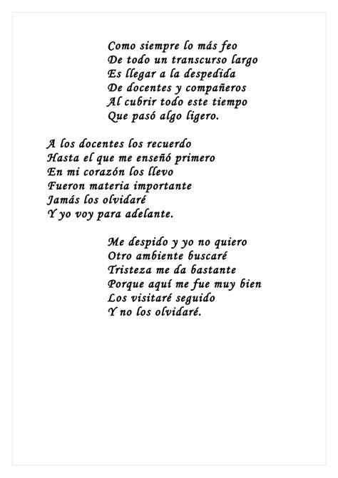 un poema de despedida de la escuela apexwallpaperscom poemas estudiantes grado noveno