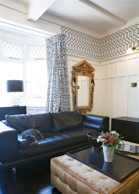 wanduhr modern - Vorhänge Wohnzimmer Weiß