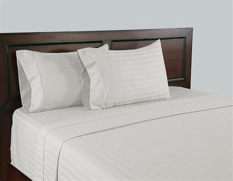 sheets that don t wrinkle color sense white 310 thread count wrinkle free cotton