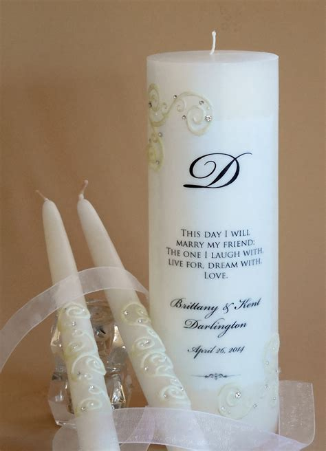 Script Lace Wedding Unity Candles   6 Verses
