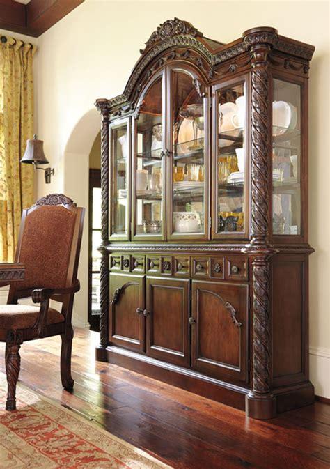 ashley furniture north shore dining room  hutch