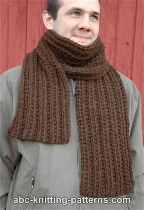 knitting pattern ribbed scarf abc knitting patterns twin rib scarf free pattern