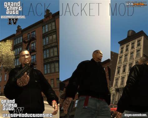 Jaket Varsity Gta Iv New by Gta 4 Black Jacket Hd Hq Mod Gtainside