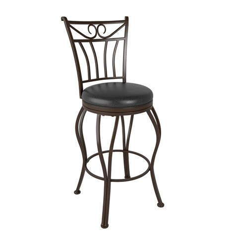26 Bar Stools Leather by Corliving Jericho 26 In Metal Swivel Bar Stool With