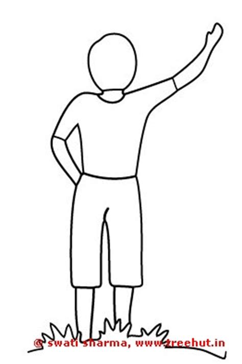 boy waving coloring page girls and boys coloring pages