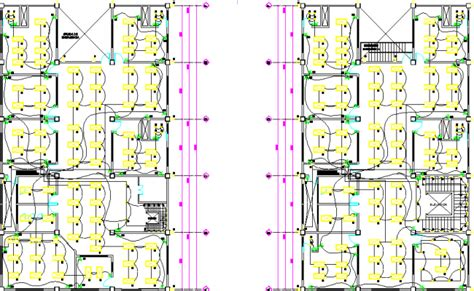 office layout plan dwg electrical layout plan of a office dwg file