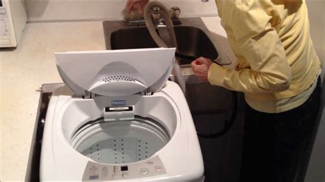 portable washing machine hookup to sink haier hlp23e portable washer review youtube