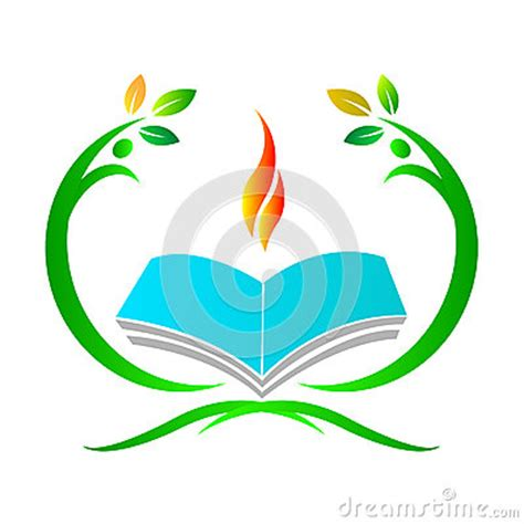 backdrop logo design education logo stock vector image 55814905