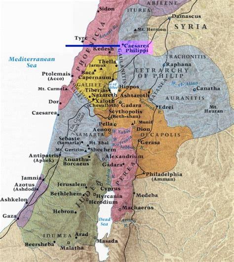 caesarea philippi map caesarea philippi