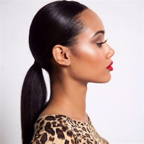 slick back weave hairstyles 25 best ideas about sleek ponytail on pinterest sleek