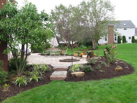 Around trees patio landscaping ideas patio with firepit ideas forward