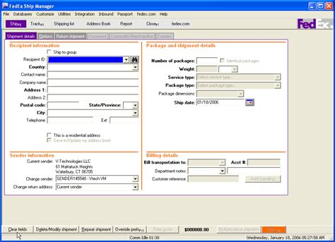 does fedex ship on fedex ship manager software informer screenshots