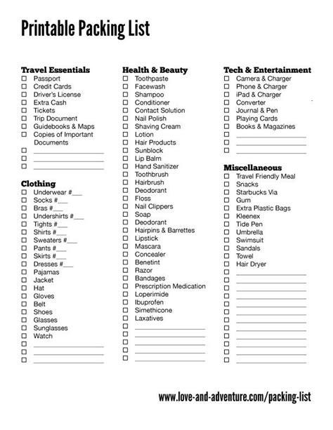 printable holiday travel checklist packing list love adventure travel pinterest