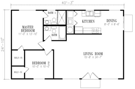 1000 square foot house