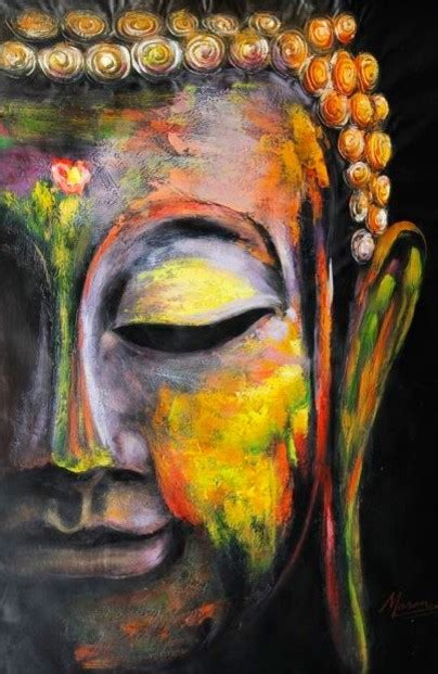 colorful buddha quot colorful buddha quot painting asian paintings by