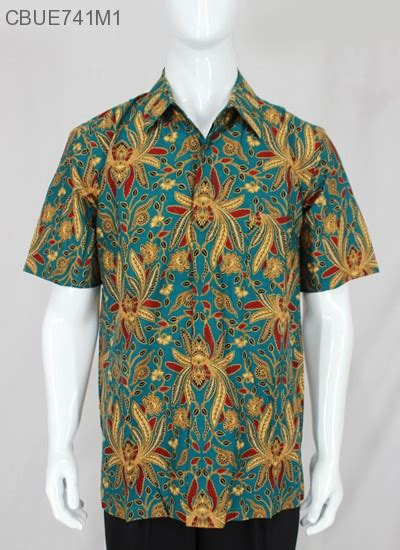 Kemeja Batik Baturaden M kemeja pendek baturaden motif pisang bali kemeja lengan