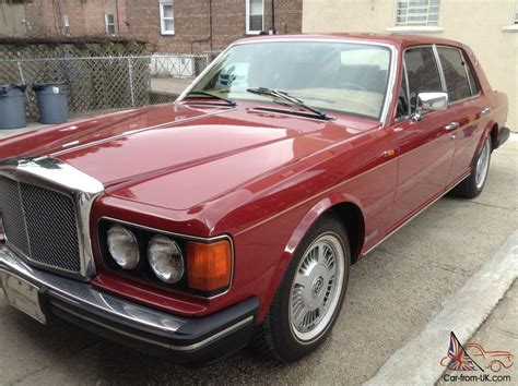 bentley burgundy 1988 bentley eight burgundy with beige interior new vogue