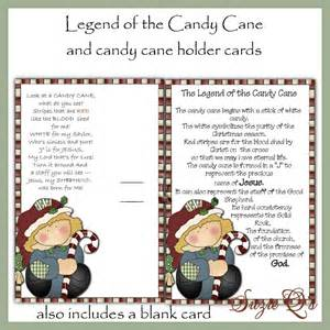 Candy cane legend printable candy cane poem printable candy cane