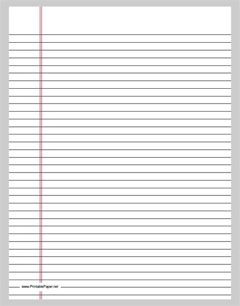Printable Lined Paper Double Sided | lined paper template free premium templates