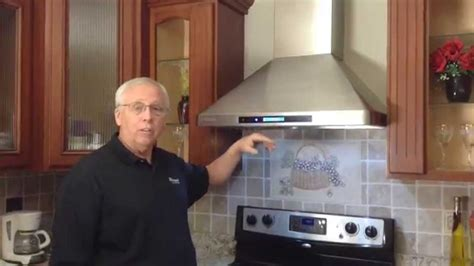 Glass Backsplash Ideas For Kitchens by Wall Mount Range Hood Installation Youtube