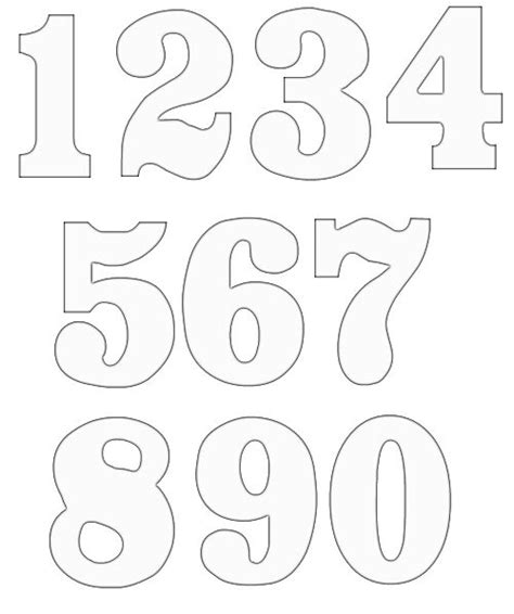 free number templates to print free numbers clipart free craft project clipart
