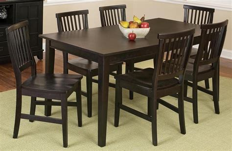 arts and crafts dining room set arts and crafts 7 piece dining set ojcommerce