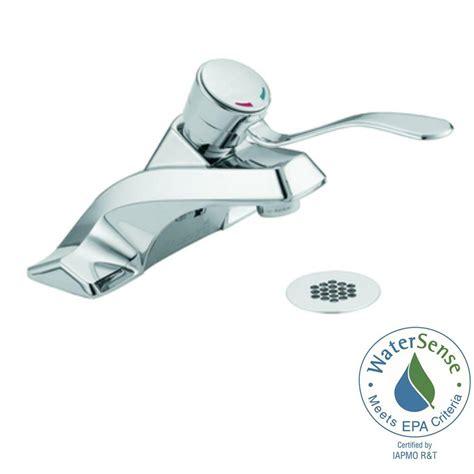 shop moen m bition classic brushed nickel 2 handle moen m bition 4 in centerset 1 handle bathroom faucet in