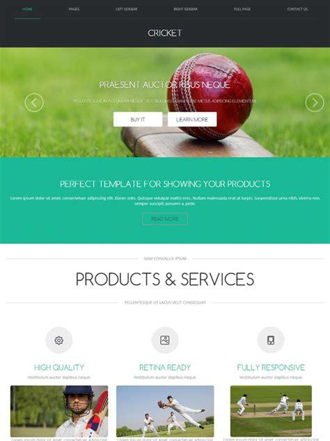 Cricket Website Templates Free Cricket Web Template Cricket Website Templates Dreamtemplate