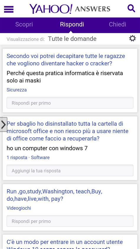 answers yahoo mobile yahoo answers android apk ecco la versione mobile