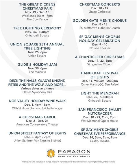 San Francisco Events Calendar San Francisco Events Calendar Gary Snow San