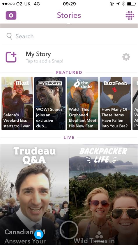 Snapchat Lookup Snapchat Launches Search Bar Mobile Marketing Magazine
