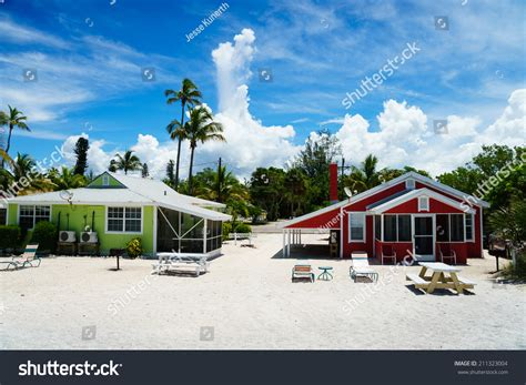 beach cottages at captiva in the summer stock photo