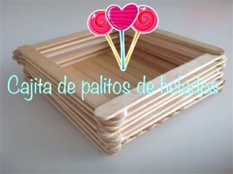 canastas de palitos madera de colores como hacer cajita de palitos de helados youtube