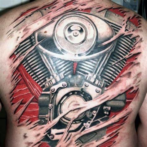 motorcycle tattoos  men  wheel design ideas