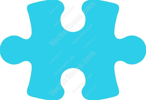 sky blue puzzle piece vector graphics vectortoons com