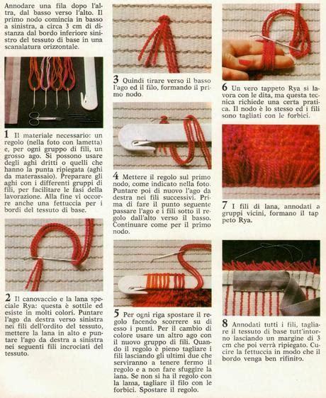 come si fa un tappeto fai da te il tappeto con il nodo rya paperblog