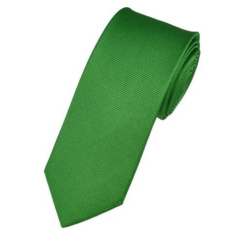 plain apple green narrow silk tie from ties planet uk