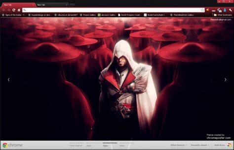 theme chrome assassin s creed assassins creed brotherhood google chrome theme by