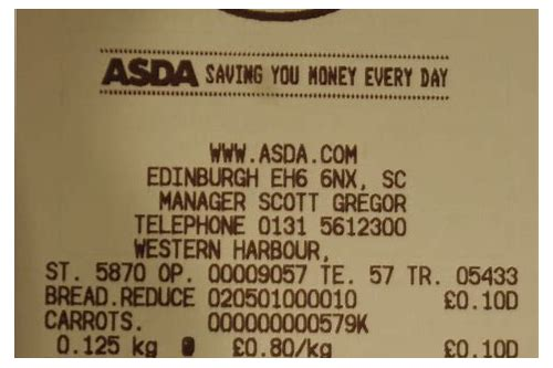 asda coupons from receipt