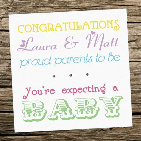 Handmade Personalised Expecting A Baby Card   Parents To Be