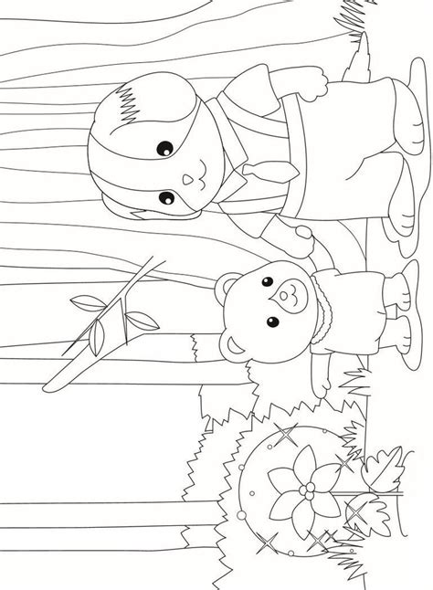 sylvanian family coloring page 17 best images about calico critters coloring pages on