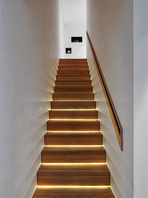 stair case modern lighting ideas that turn the staircase into a