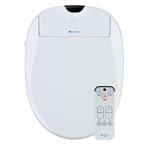 toilet with heated seat and bidet brondell white heated bidet toilet seat s900 the