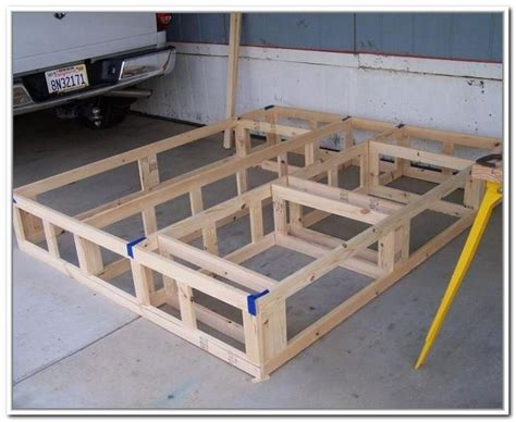 King Size Platform Bed Plans Diy King Size Bed Frame With Storage Diy Projects Pinterest King Size Bed Frame Bed