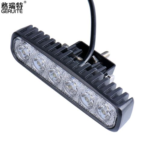 motorcycle led light bar led work light bar 18w for motorcycle car truck boat