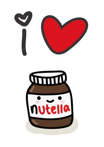 imagenes kawaii nutella nutella clipart love tumblr pencil and in color nutella