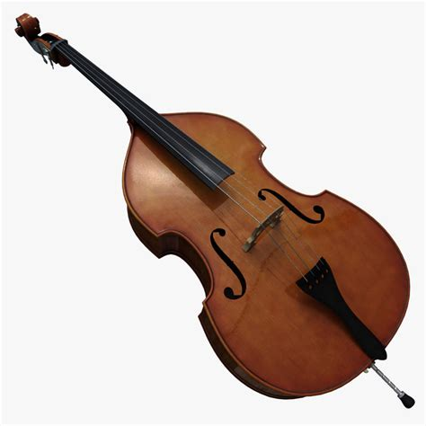 Dryer Contra Bass 4 Strings contrabass instrument 3d model