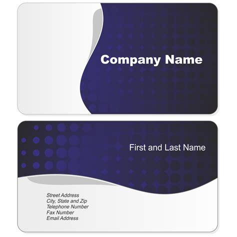 template for business name card blue black red business card templates